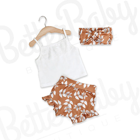 Turn A New Leaf Baby Girl Outfit