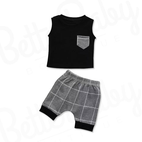 Young And Gray Baby Boy Outfit