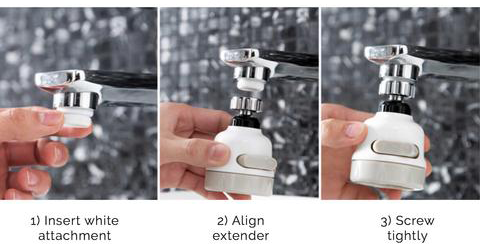 360 rotate swivel faucet nozzle