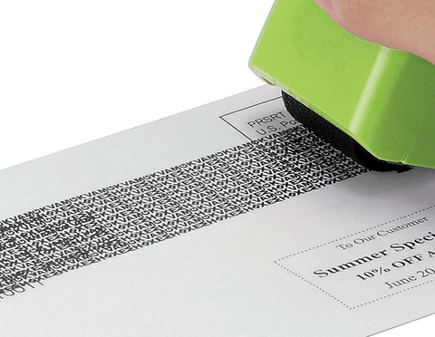 The Unique Designed Patent Pattern Combined With Formulated Ink Works On Most Glossy Surfaces And Will Mask Out Your Private Information