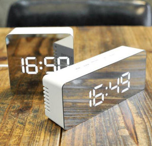 Digital LED Alarm Mirror Clock