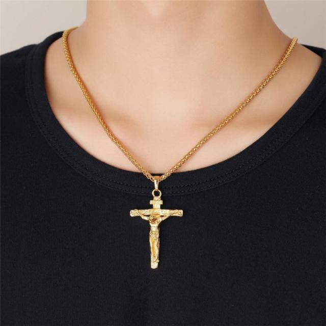 Gold/Silver Plated Crucifix Necklace