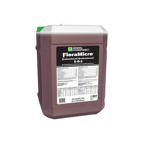 General Hydroponics® FloraMicro® Professional 5 - 0 - 1