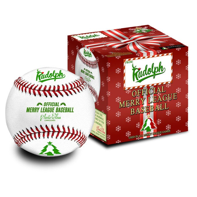 Merry League Baseball Gift. The Official Baseball of Christmas. Stocking Stuffer. Christmas Collectible Baseball