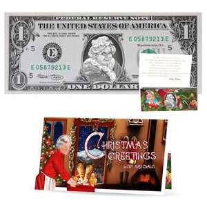The Official Mrs Claus Dollar Bill. Real USD. Bankable and Spendable