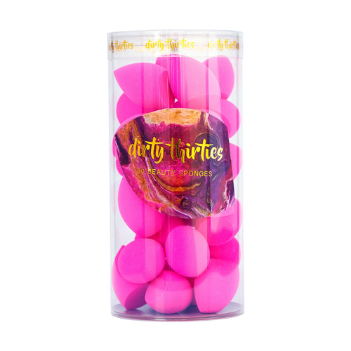 30 MINI Beauty Sponges - Hot Pink
