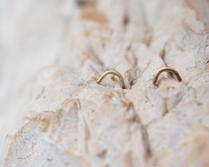 Delicate Arch Gold Studs - Recycled Gold Earrings