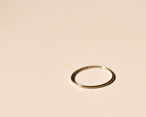 thin gold ring, skinny gold ring, delicate gold ring, stacking ring, recycled gold ring, thin gold band,