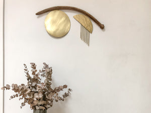 Driftwood + Brass wall hanging #06