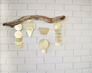 Driftwood + Brass wall hanging #03