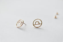 Horizon Gold Studs - Recycled Gold Earrings