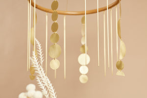 Rattan x Brass Shapes Mobile