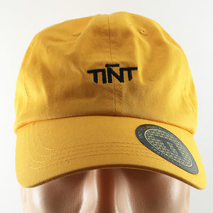 TINT Logo Faded Yellow Strapback Dad Hat
