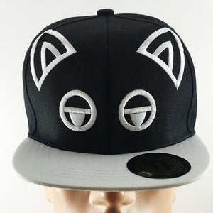 TINT Displeased Cat Face Snapback Hat