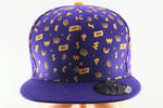 TINT Gold & Royal Purple Cash Currency Pattern Snapback Hat