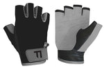 TINT Black and Grey Half Finger Gloves
