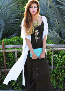 Button Down Maxi Shrug Set