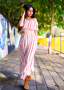 Stripes Skirt Set