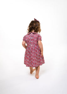 girls liberty print dress red betsy