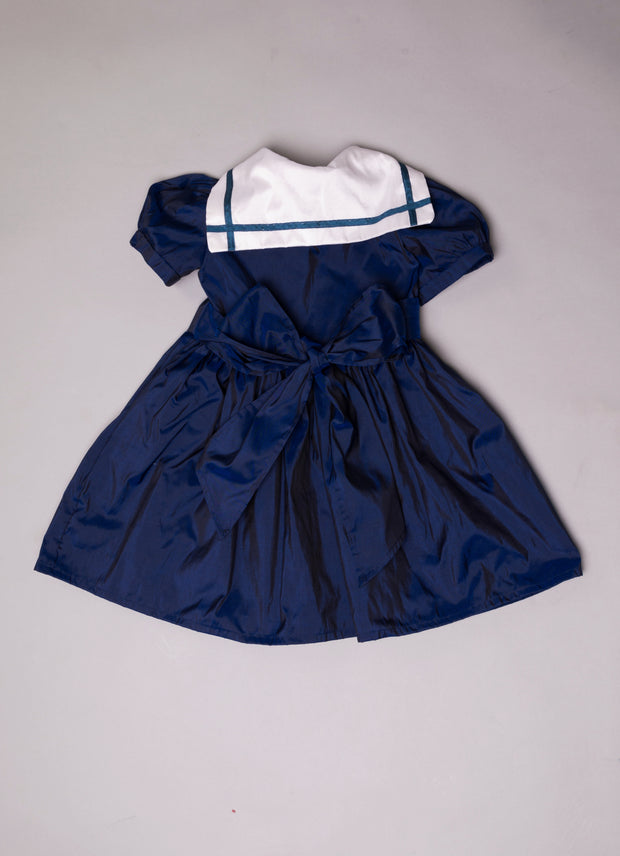 "Silk Flower Girls Sailor Dress - ""Katherine"""