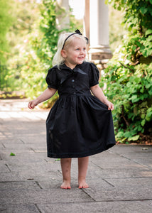 girls gothic flower girl dress