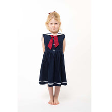 navy and white girls sailor dress