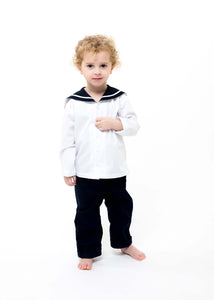 Drake Boys Long Sleeve Sailor suit - Navy and White