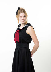 Ladies Retro Sailor Dress - Cotton Sateen