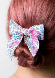 Liberty Print Ladies Sailor Bow - Felicite Pink