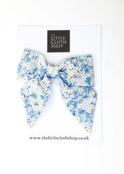 Liberty Print Girls Sailor Bow - Spring Blooms