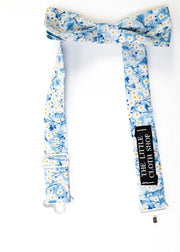 Boys Skinny Bow tie made with Liberty Print Fabric