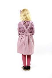"Pink Linen Girls Pinafore ""Isabel"""
