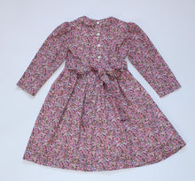 Load image into Gallery viewer, girls winter floral dress flower girl uk