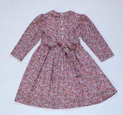 girls winter floral dress flower girl uk