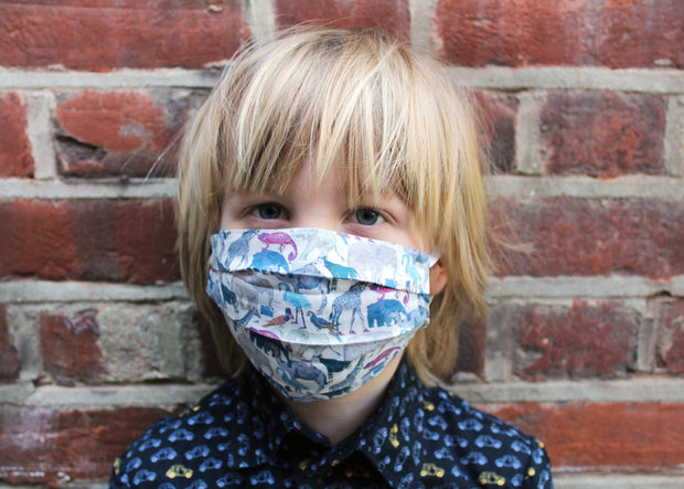 Kids Face Mask made using Liberty Fabrics - Nose Wire and Filter Pocket