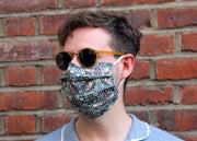 Men's Face Mask  made with Liberty Fabric - Filter pocket - Nose Wire