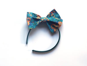 Large Traditional Bow - Navy Liberty