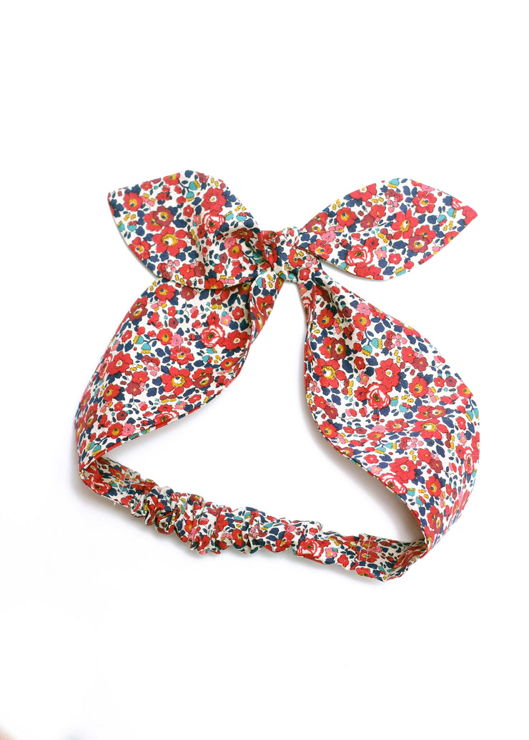 liberty print top knot hair band womens