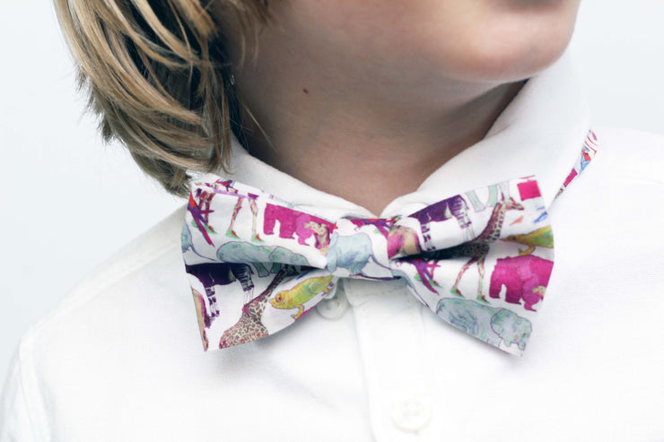 Toddler Boys Liberty Print Bow Tie - Blue Felicite
