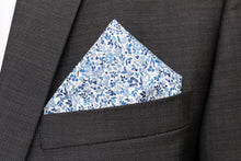 Liberty Print Groomsmen Tie - Blue Katie and Millie