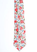 Liberty Print Mens Tie - Red Felicite