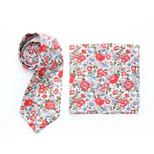 Liberty Print Mens Tie - Blue Katie and Millie - Other Fabrics available