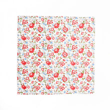 Liberty Print Pocket Square - Red Felicite