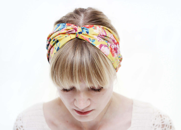 ladies liberty print turban twist hair tie