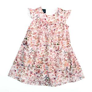 "Liberty Print Girls Frill Dress - ""Ellie"""