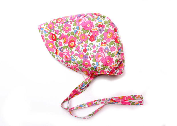 Liberty Print Peaked Girls Bonnet