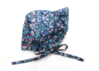 "Frill Baby bonnet made using Liberty Print - ""Indie Mae"""