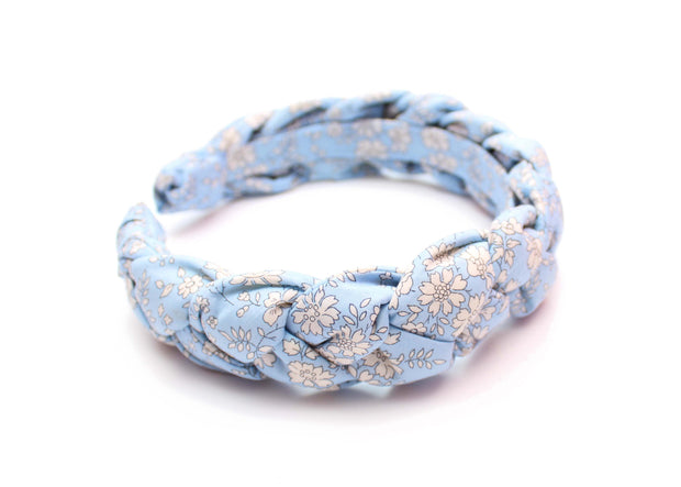 light blue plaited alice band