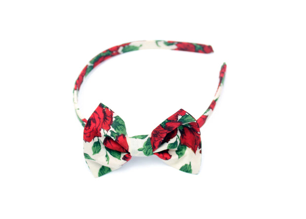 Liberty Print Girls Alice Band Bow