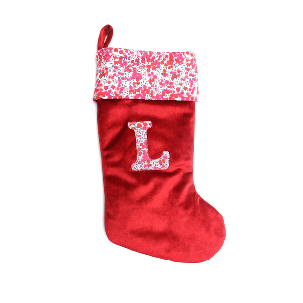Navy Liberty Print Christmas Stocking